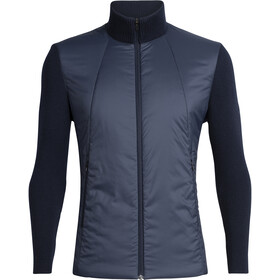 Icebreaker Lumista Hybrid Sweater Jacket Herre Midnight Navy